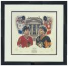 Limited Edition Signed Hockey Hall of Fame - Denis Savard, Joe Mullen