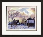 Winter In The Village - Numbered By Artist A.J Casson