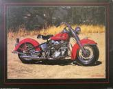 Red Harley Davidson