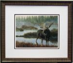 Misty Morning Moose Jan Martin McGuire