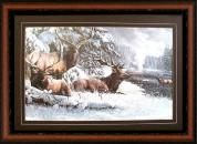 Elks In The Snow Kevin Daniel