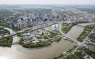 Aerial View of the Forks & River