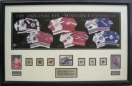 Original 6 N.H.L. Hockey Picture with Pins
