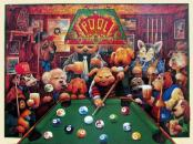 Dogs Playing Pool Bill Bell