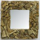 Wood Bark Mirror