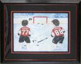 Paul Coffey & Eric Lindros Framed Picture