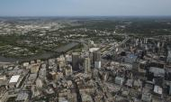 Aerial View of Downtown Winnipeg
