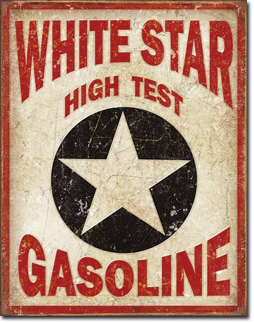 White Star Gasoline | Automobile Signs | Tin Signs | Wall Decor ...