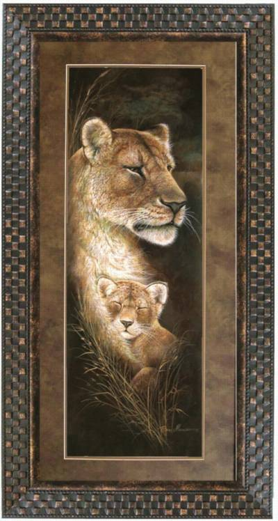 Proud Mother Wildlife Framed Art Wall Decor Art