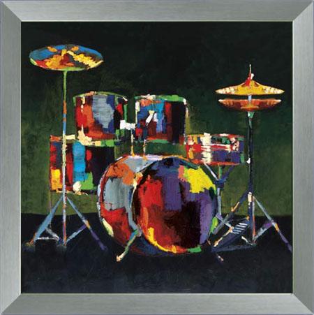 drum set  music  framed art  wall decor  art