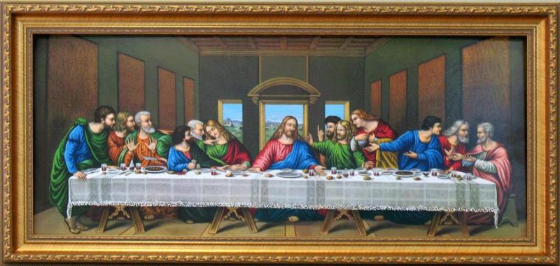 the last supper religious framed art wall decor art