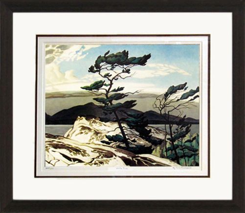 White Pine Numbered By Artist Group Of Seven Framed