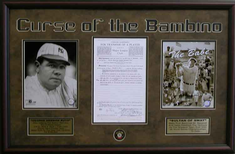 Curse Of The Bambino Golf Sports Framed Art Wall