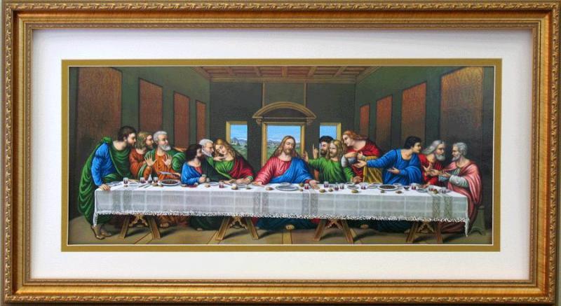 last supper religious framed art wall decor art. Black Bedroom Furniture Sets. Home Design Ideas