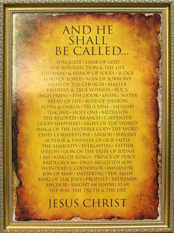 And He Shall Be Called Religious Framed Art Wall