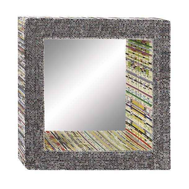 Square Rolled Paper Mirror Framed Decorative Frameless Clean Cut Bevelled Edge Pencil Cutting Custom Oval Circular