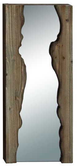 Live Edge Mirror 2 Framed Decorative Frameless