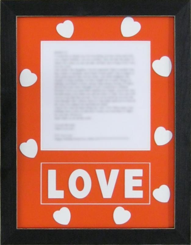 Framed Poem w/ Custom Mat Cut Outs | Examples | Custom Framing ...