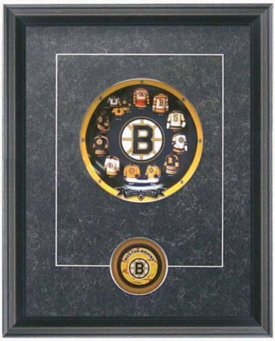Boston Bruins Hockey Sports Framed Art Wall Decor