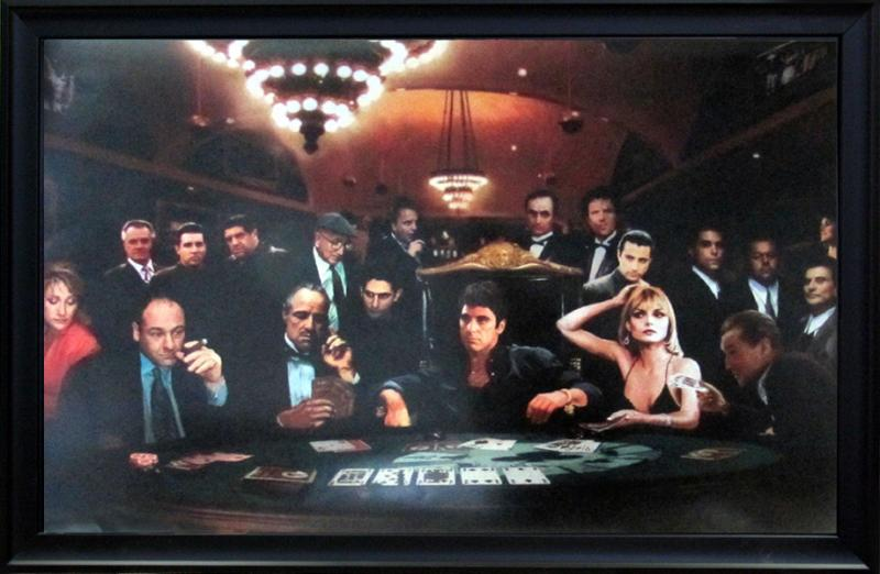 Stars Playing Poker Celebrities And Movies Framed Art