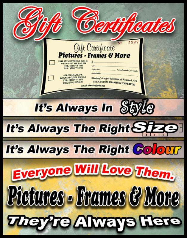 Pictures frames more custom framing wall decor framed art gift certificates solutioingenieria Choice Image